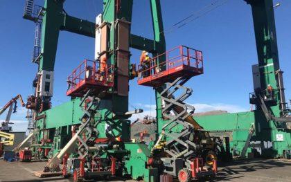 Lyttelton Port Crane Raising
